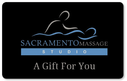 """A Gift For You"" with Sacramento Massage Studio logo"